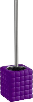 Ёрш для туалета с подставкой, пурпурный Wenko CUBE 20455100