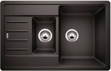 Кухонная мойка с крылом оборачиваемая, гранит антрацит Blanco LEGRA 6 S Compact 521302