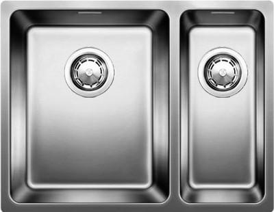 Кухонная мойка без крыла, основная чаша слева, нержавеющая сталь зеркальной полировки Blanco ANDANO 340/180-U 518321