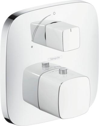 Наружная часть термостата для душа без подключения шланга, с запорным вентилем, белый / хром Hansgrohe PuraVida 15775400