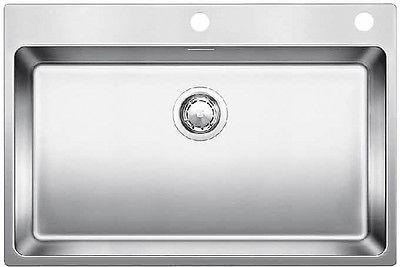 Кухонная мойка без крыла, с клапаном-автоматом, нержавеющая сталь полированная Blanco ANDANO 700-IF/A 519557