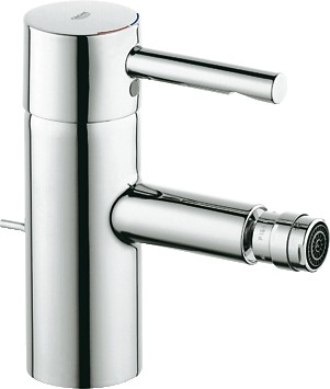 Смеситель однорычажный с донным клапаном для биде, хром Grohe ESSENCE 33603000