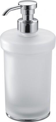 Дозатор жидкого мыла стеклянный с вставками отдельностоящий хром Colombo LINK B9311