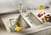 Кухонная мойка без крыла, с клапаном-автоматом, гранит, белый Blanco SUBLINE 320-U 513401