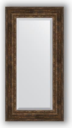 Зеркало с фацетом в багетной раме 62x122см состаренное дерево с орнаментом 120мм Evoform BY 3508