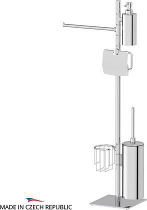 Стойка c 5-ю аксессуарами для туалета и биде, хром Ellux DOM 011