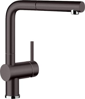Смеситель кухонный однорычажный с высоким выдвижным изливом, керамика базальт Blanco LINUS-S 517643