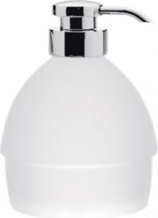 Дозатор для жидкого мыла отдельностоящий стеклянный с помпой хром Colombo KHALA B9304