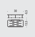 Полка для ванной 30см, хром Colombo ANGOLARI B9640