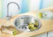 """Кухонная мойка без крыла, нержавеющая сталь """"декор"""" Blanco RONDOSOL 513308"""