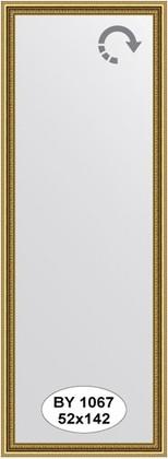 Зеркало 52x142см в багетной раме бусы золотые Evoform BY 1067
