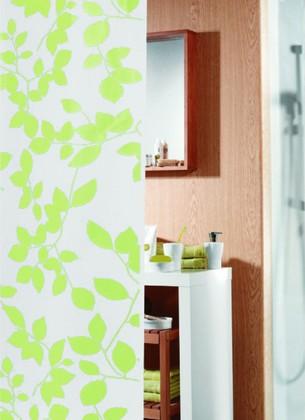 Штора для ванны 180x200см белая Spirella FEUILLAGES 4005569