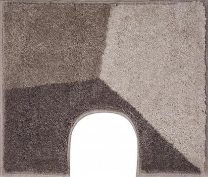 Коврик с вырезом под туалет 60x50см серо-коричневый Grund SHI WC 3625.06.256
