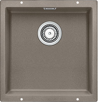 Кухонная мойка без крыла, с клапаном-автоматом, гранит, серый беж Blanco SUBLINE 400-U 517433
