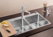 Кухонная мойка без крыла, с клапаном-автоматом, нержавеющая сталь полированная Blanco ANDANO 340/340-IF/A 520832
