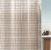 Штора для ванны 180x200см бежево-коричневая Spirella FILAFIL 1016129