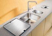 Кухонная мойка без крыла с коландером, нержавеющая сталь полированная Blanco SUPRA 160-U 518196
