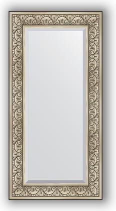 Зеркало с фацетом в багетной раме 60x120см барокко серебро 106мм Evoform BY 3502