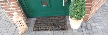 Коврик придверный 45x75см для улицы коричневый, резина Golze MYSTIC 350-30-01