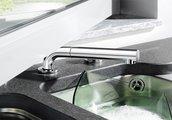 Кухонный смеситель для установки возле окна однорычажный с выдвижным, вращающимся изливом, хром Blanco PERISCOPE-S-F II 516671