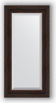 Зеркало с фацетом в багетной раме 59x119см темный прованс 99мм Evoform BY 3499
