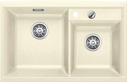 Кухонная мойка основная чаша слева, без крыла, с клапаном-автоматом, гранит, жасмин Blanco AXIA II 8 516887