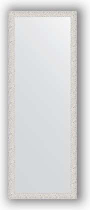 Зеркало в багетной раме 51x141см чеканка белая 46мм Evoform BY 3098