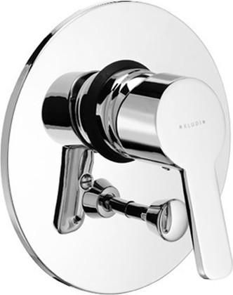 Встраиваемый однорычажный смеситель для ванны без встраиваемого механизма, хром Kludi LOGO NEO 374190575