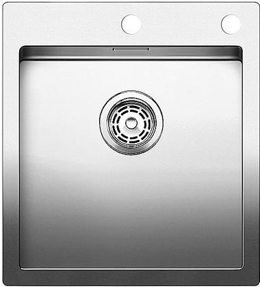 Кухонная мойка без крыла, с клапаном-автоматом, нержавеющая сталь зеркальной полировки Blanco CLARON 400-IF/A 515642