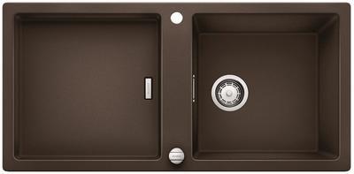 Кухонная мойка оборачиваемая без крыла, с клапаном-автоматом, гранит, кофе Blanco ADON XL 6 S 519626