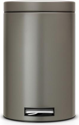 Ведро для мусора с педалью 12л платиновое Brabantia 288265