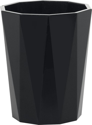 Стакан пластиковый чёрный Spirella CRYSTAL 1018130