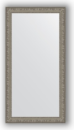 Зеркало в багетной раме 54x104см виньетка состаренное серебро 56мм Evoform BY 3072