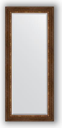 Зеркало с фацетом в багетной раме 66x156см римская бронза 88мм Evoform BY 3569