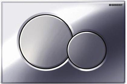 Клавиша двойного смыва, пластиковая, хром матовый и глянцевый Geberit Sigma01 115.770.KA.5