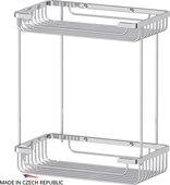 Полочка-решётка для ванной 2х-уровневая, прямоугольная, 31х15х28см FBS RYN 023
