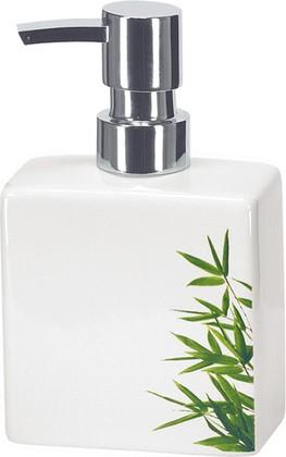 Ёмкость для жидкого мыла малая керамическая белая Kleine Wolke FLASH BAMBOO 5091625849