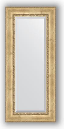 Зеркало с фацетом в багетной раме 62x142см состаренное серебро с орнаментом 120мм Evoform BY 3532