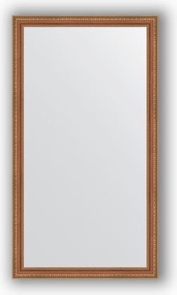 Зеркало в багетной раме 75x135см бронзовые бусы на дереве 60мм Evoform BY 3299