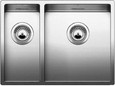 Кухонная мойка основная чаша справа, без крыла, нержавеющая сталь зеркальной полировки Blanco CLARON 340/180-IF 517225