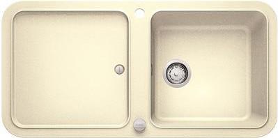 Кухонная мойка оборачиваемая с крылом, с клапаном-автоматом, гранит, жасмин Blanco YOVA XL 6 S 519588