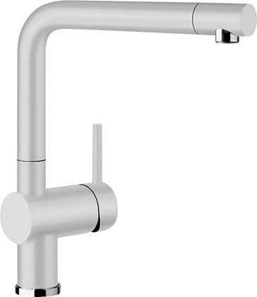 Смеситель кухонный однорычажный с высоким выдвижным изливом, SILGRANIT жемчужный Blanco LINUS-S 520747