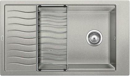 Кухонная мойка оборачиваемая с крылом и решеткой, гранит жемчужный Blanco ELON XL 8 S 520487
