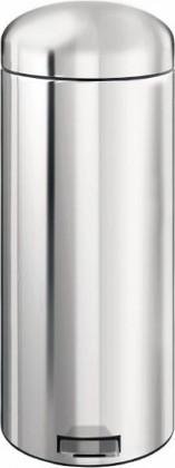 Высокий мусорный бак с педалью 30л сталь полированная Brabantia RETRO BIN 348440