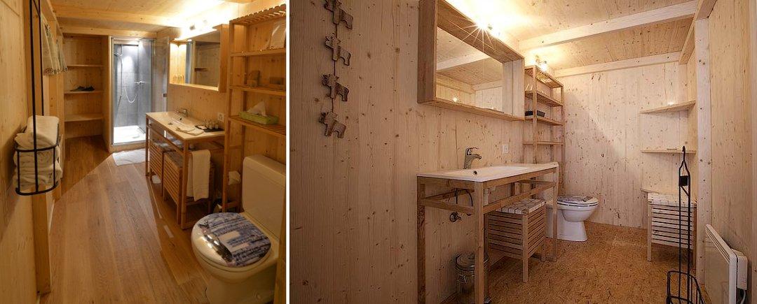 Туалеты и умывальники в домиках швейцарского глэмпинг-курорта Whitepod