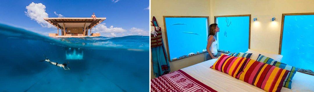 Внешний вид и интерьер домиков глэмпинг-курорта от Manta Resort