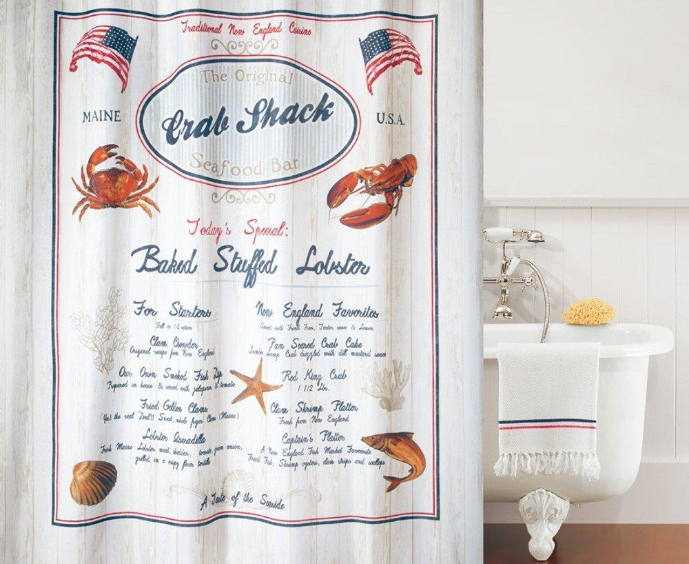 Штора для ванной комнаты 180x200см текстильная Spirella CRAB SNACK