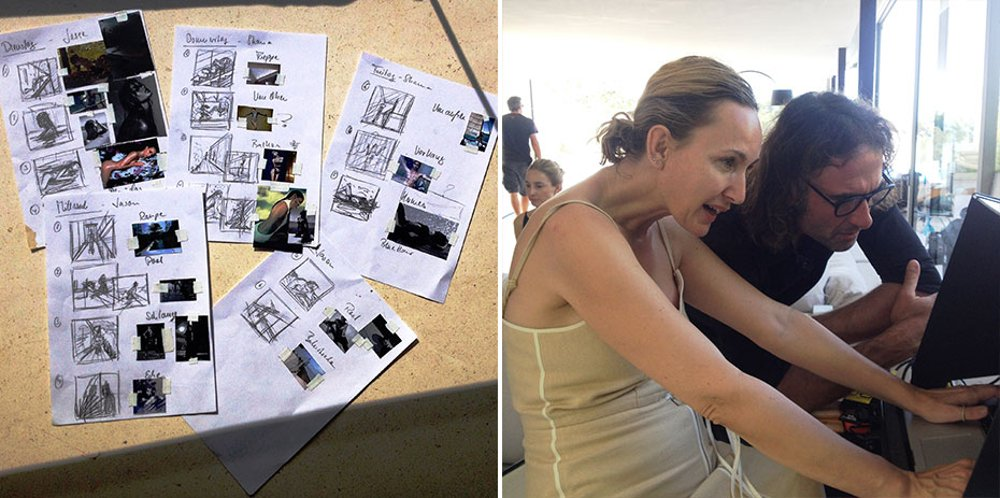 Фотограф Петра ван Раай, её помощники и рабочие материалы во время съёмок календаря Hansgrohe 2016