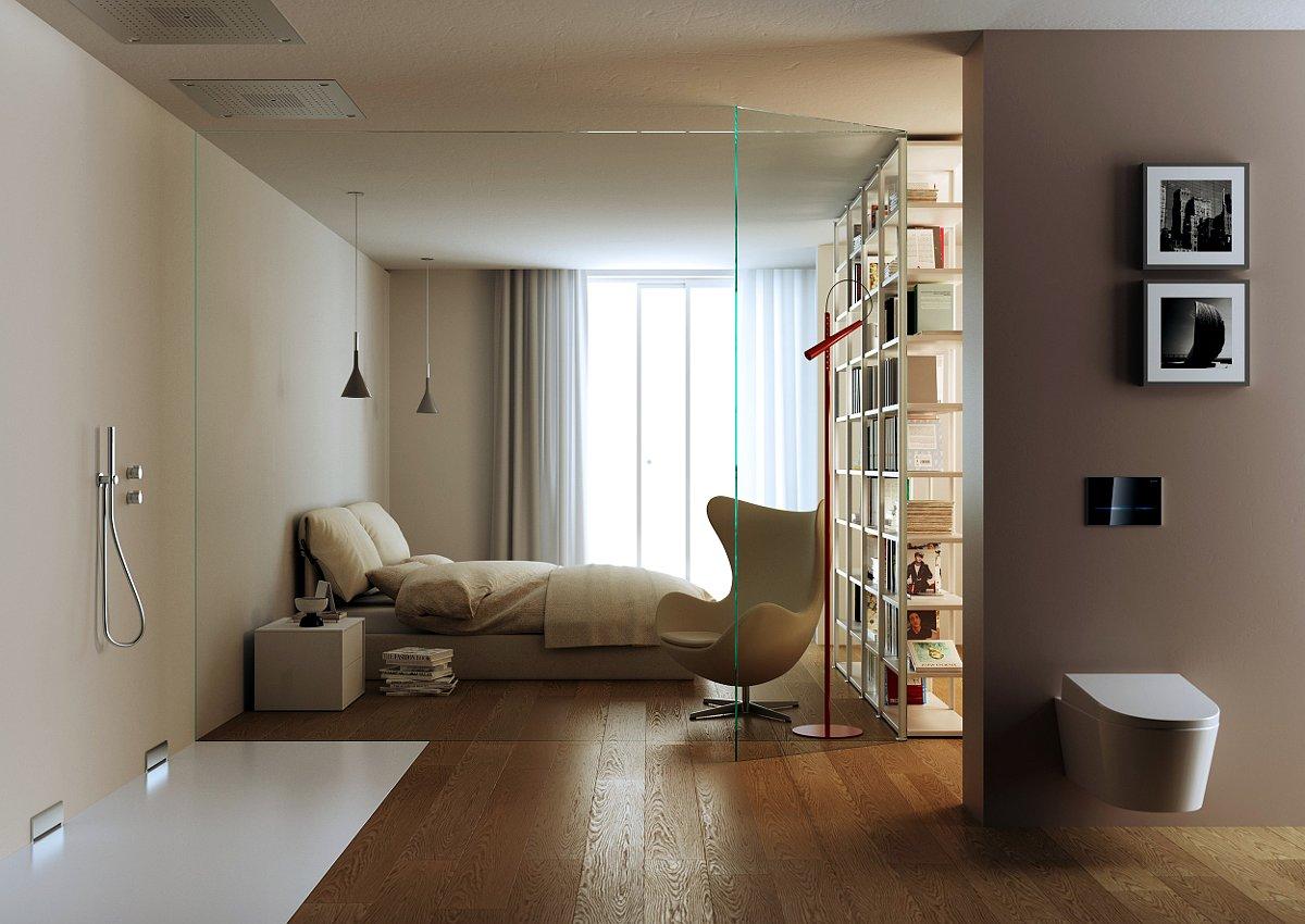Интерьер жилого помещения, созданный с использованием оборудования Geberit