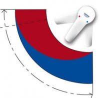 Иллюстрация зависимости подачи тёплой/холодной воды от положения рычага смесителя с традиционным картриджем Grohe EUROSMART